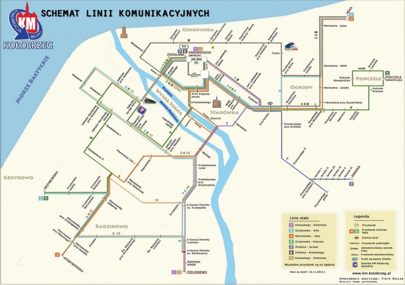 Schemat KM Kołobrzeg