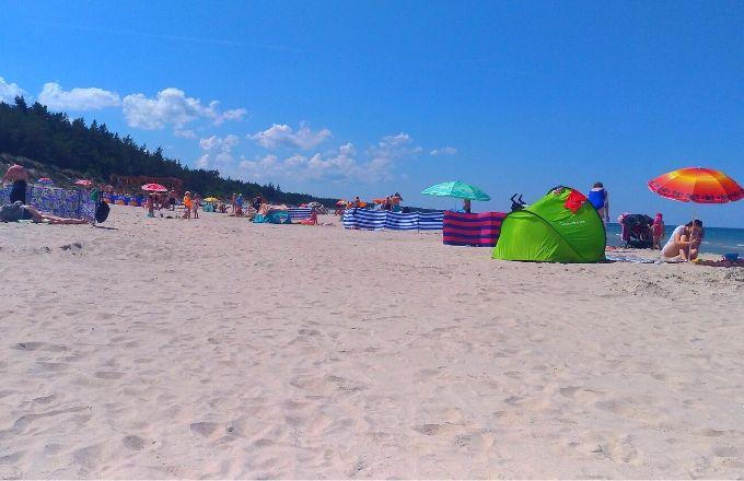 Grzybowo - plaża, sierpień 2019