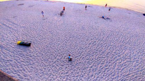 Plaża w Grzybowie, sierpień 2019, widok z tarasu widokowego
