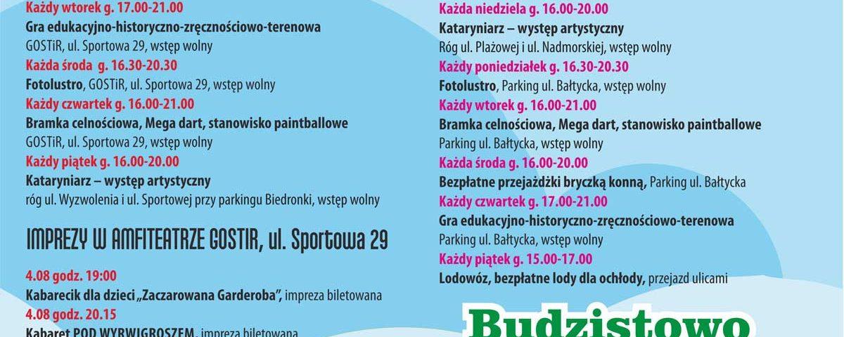 Grzybowo-program imprez na sierpień